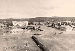 Ulan-Ude. Panorama of the city, away 2-storey building of the hospital, circa 1910
