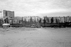 Usinsk. Nakhalovka, building a House Household, Parkovaya street