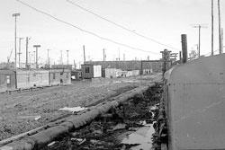 Usinsk. Panorama of city, 1975