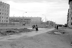 Usinsk. Street Builders, school №3