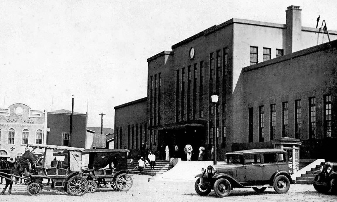 Kholmsk. The train station Maoka, 1927