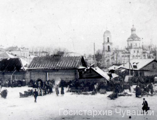 Cheboksary. Marketplace, 1909