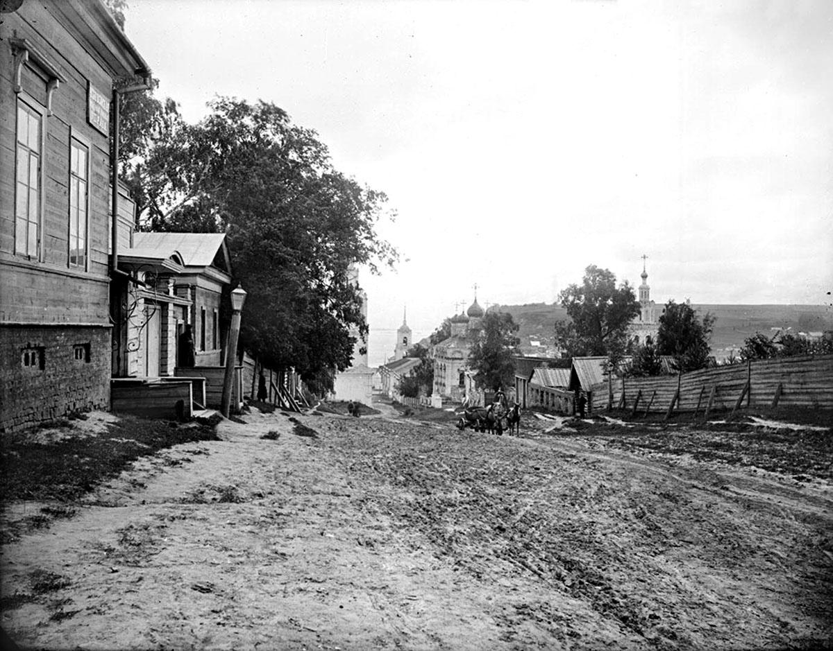 Cheboksary. First Cathedral street, 1894