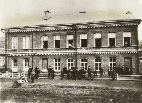 Cheboksary. The first building of Chuvash school