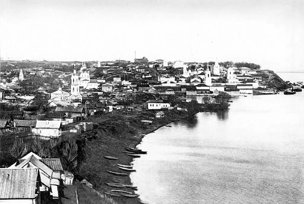 Cheboksary. The river mouth Cheboksarki, 1907