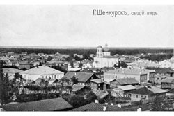 Shenkursk. Panorama of the city