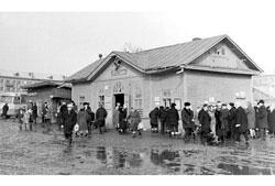 Shchyokino. Old bus station