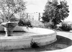 Elista. Fountain at Lenin Square, 1957