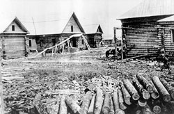 Yuzhno-Sakhalinsk. First log houses, the beginning of the 1880s