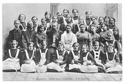 Yadrin. Female gymnasium, 4th grade