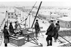 Yakutsk. Panorama of city, 1953