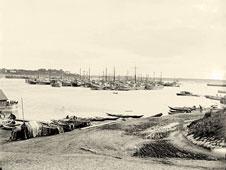 Yaroslavl. The ships on the Volga river