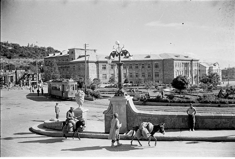 Yerevan. Panorama of city, circa 1940