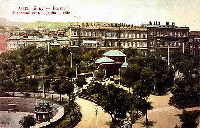 Baku. City garden