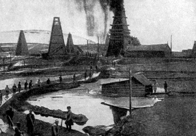 Baku. Oil wells