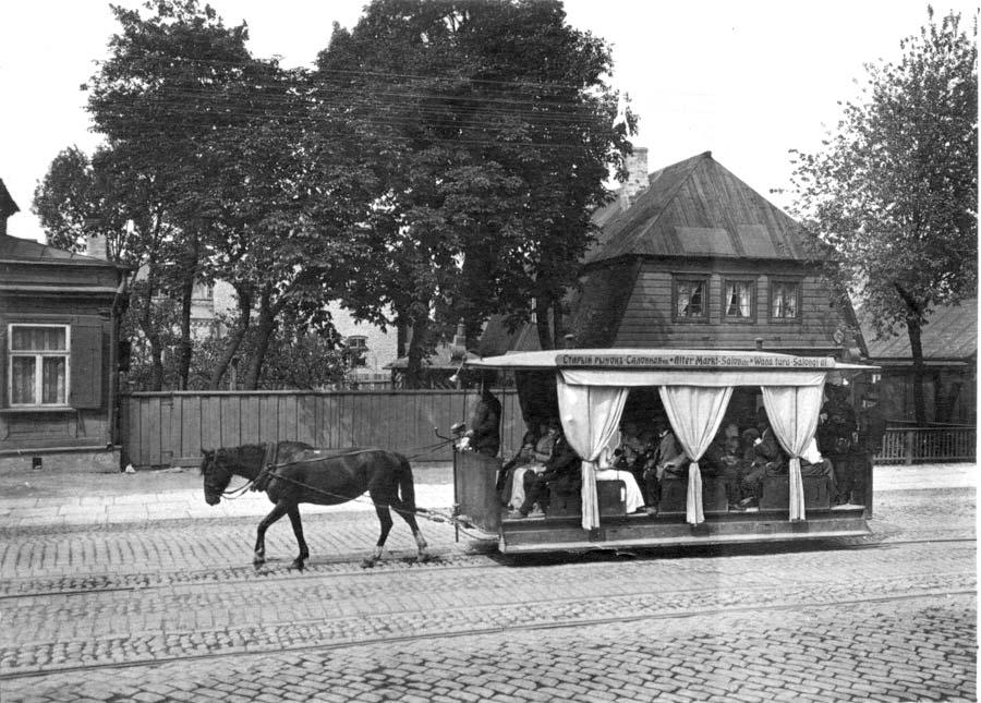 Tallinn. Horse-Tram in Narva Highway