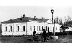 Almaty. The building of female gymnasium