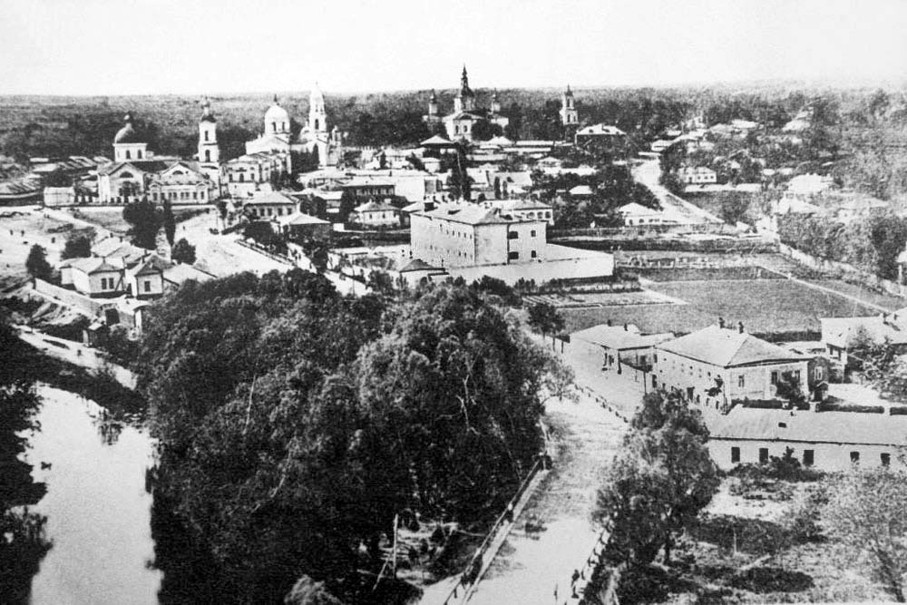 Ahtyrka. Panorama of city