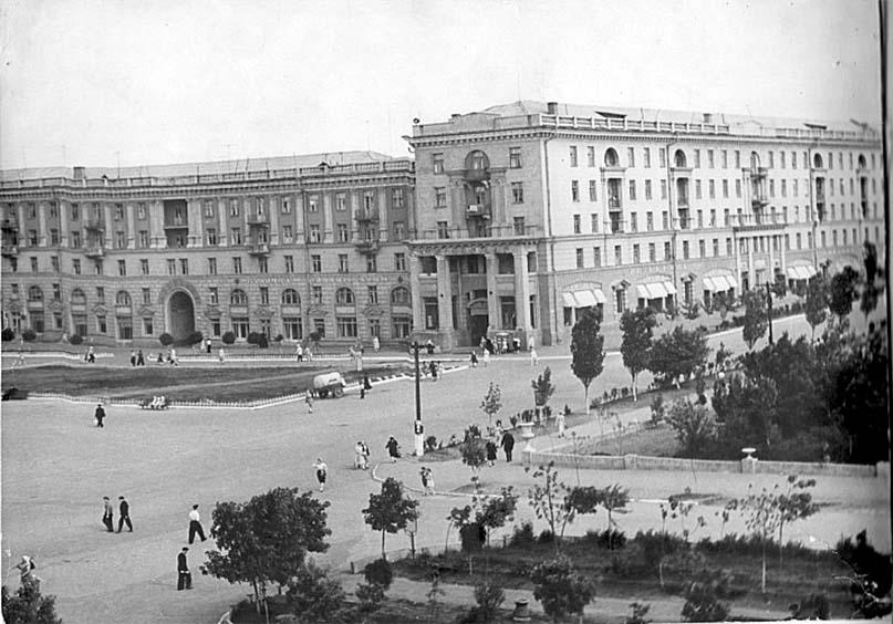 Alchevsk. Peace Square, 50s