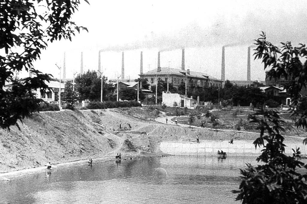 Alchevsk. View with Shkolny Pond