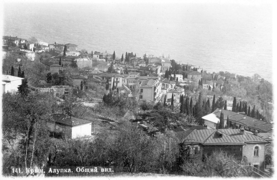 Alupka. Panorama of the city