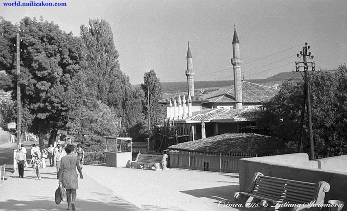Bakhchysarai. Panorama of the city, 1975