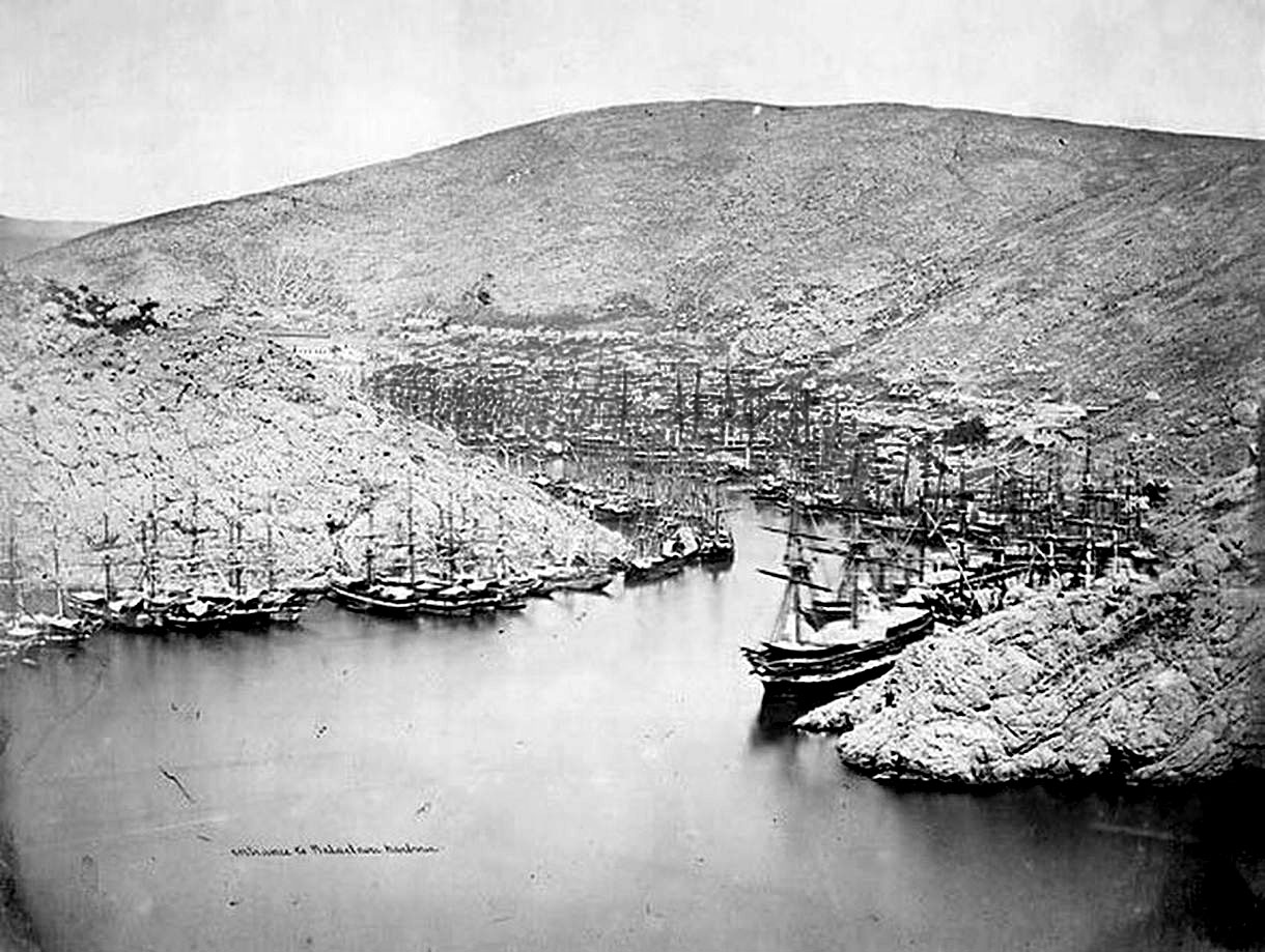 Balaklava. War of 1853-56, the ships of the Allied Squadron