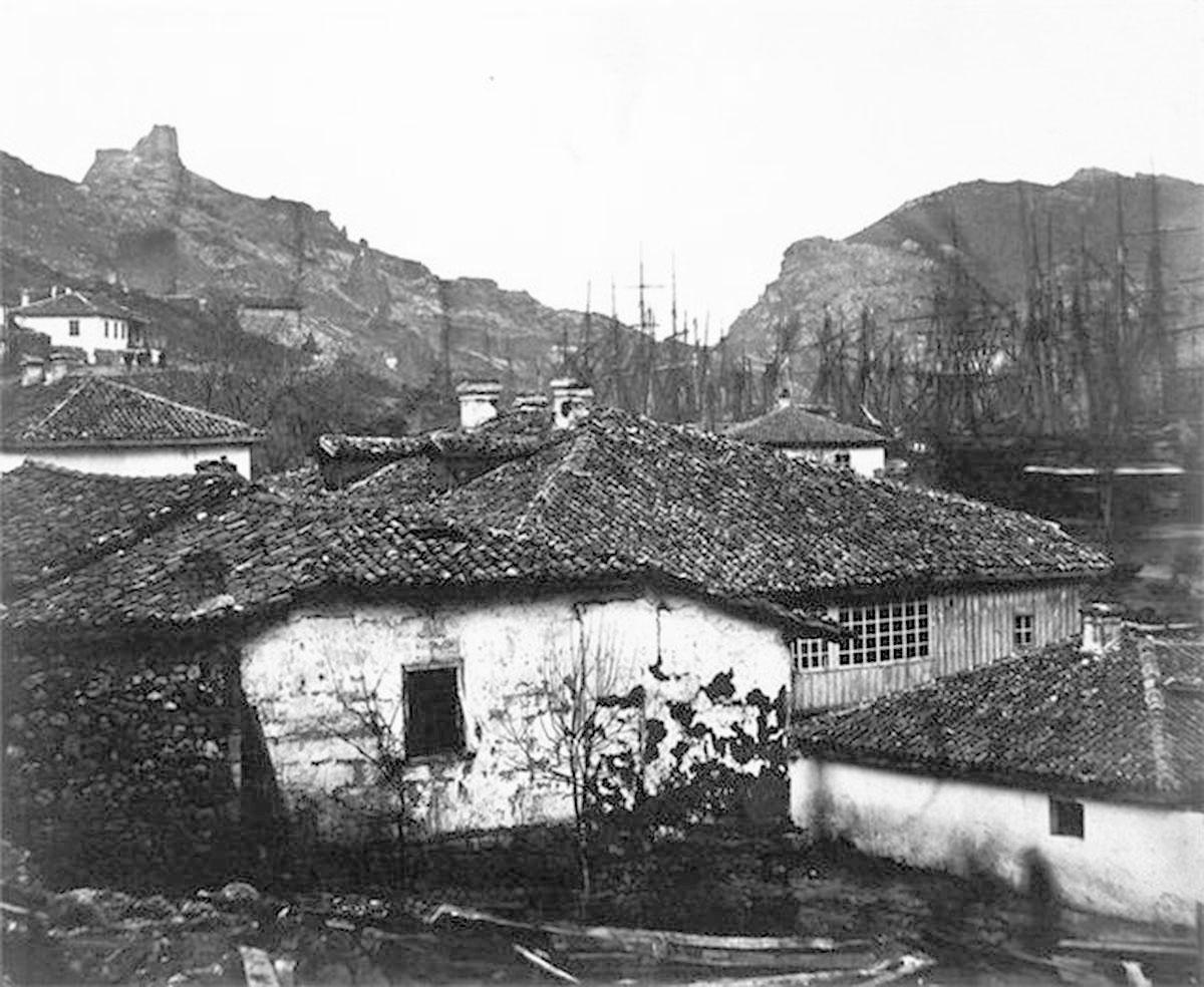 Balaklava. War of 1853-56, panorama of the city