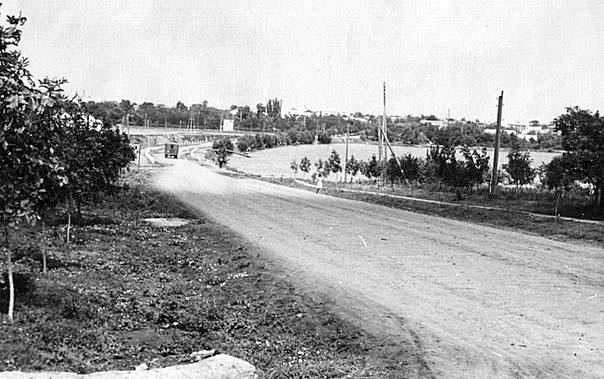 Bashtanka. Panorama of the central dam, 1968