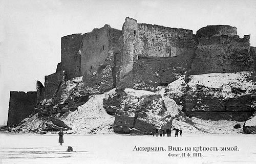 Bilhorod-Dnistrovskyi. View of the fortress in winter