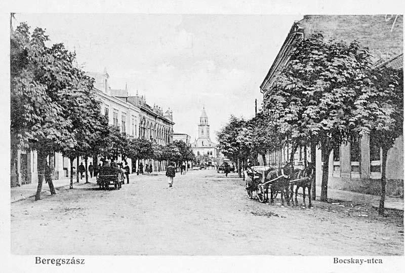 Berehove. Ishtván Bochkai street
