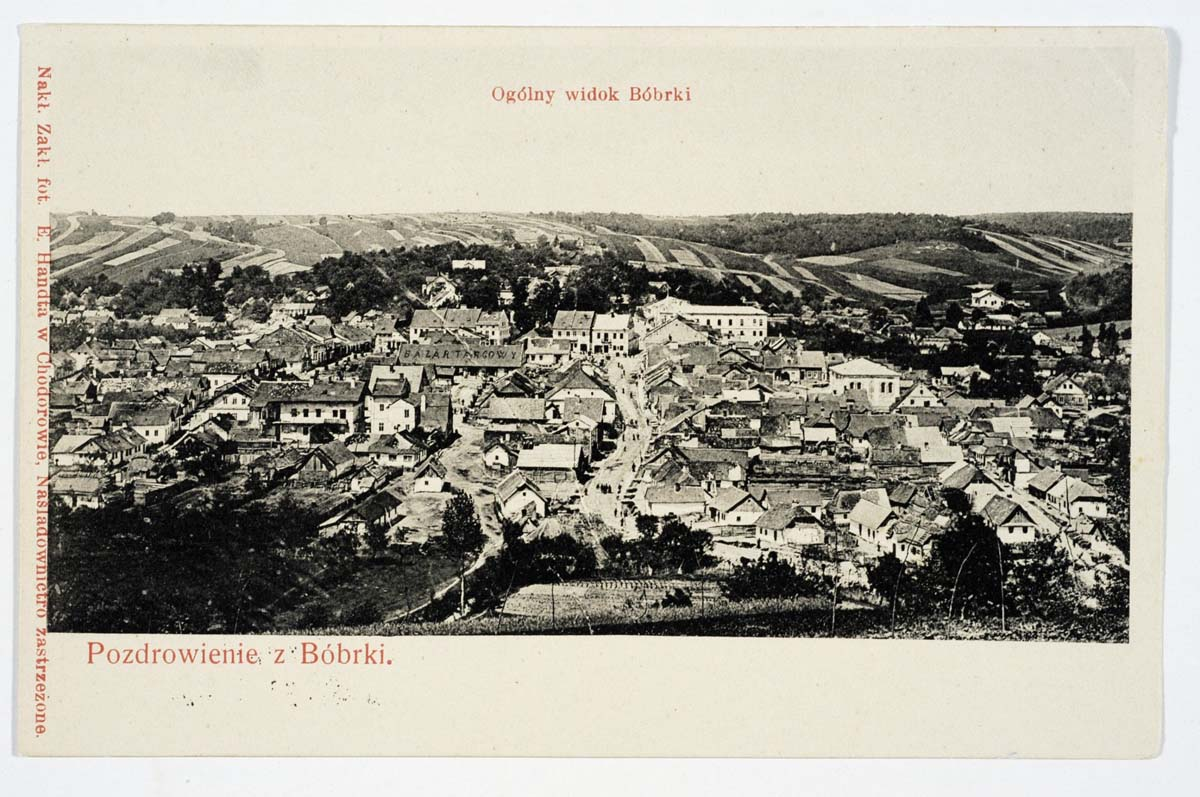 Bibrka. Panorama of the city
