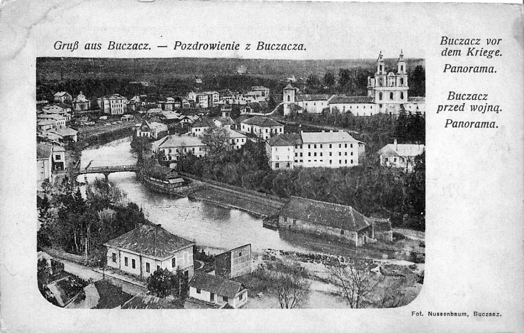 Buchach. Panorama of the city