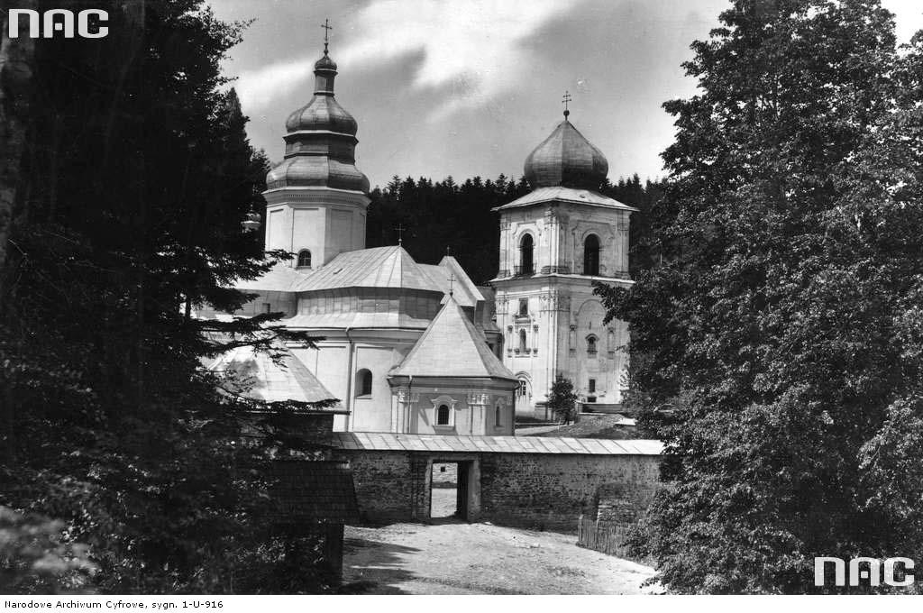 Dobromyl. Panorama of church