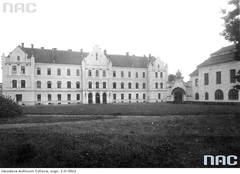 Dubliany. Exterior of building of University boarding