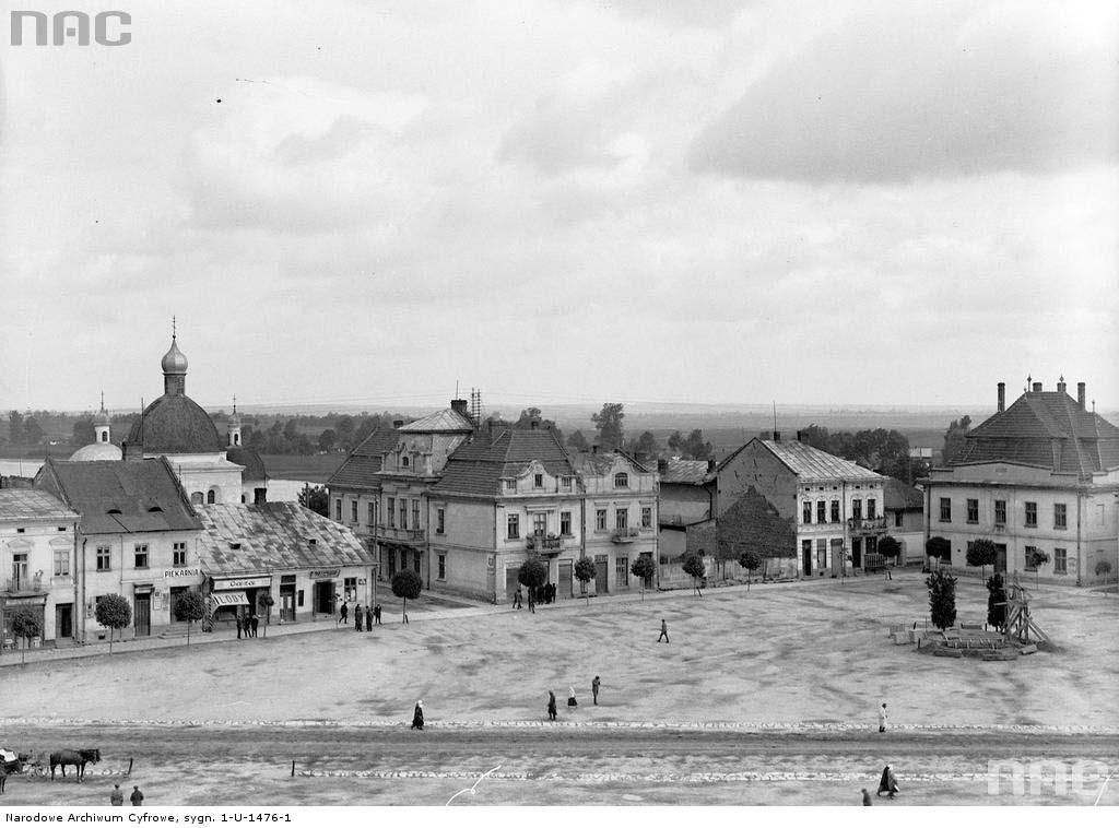 Horodok. Panorama of the market
