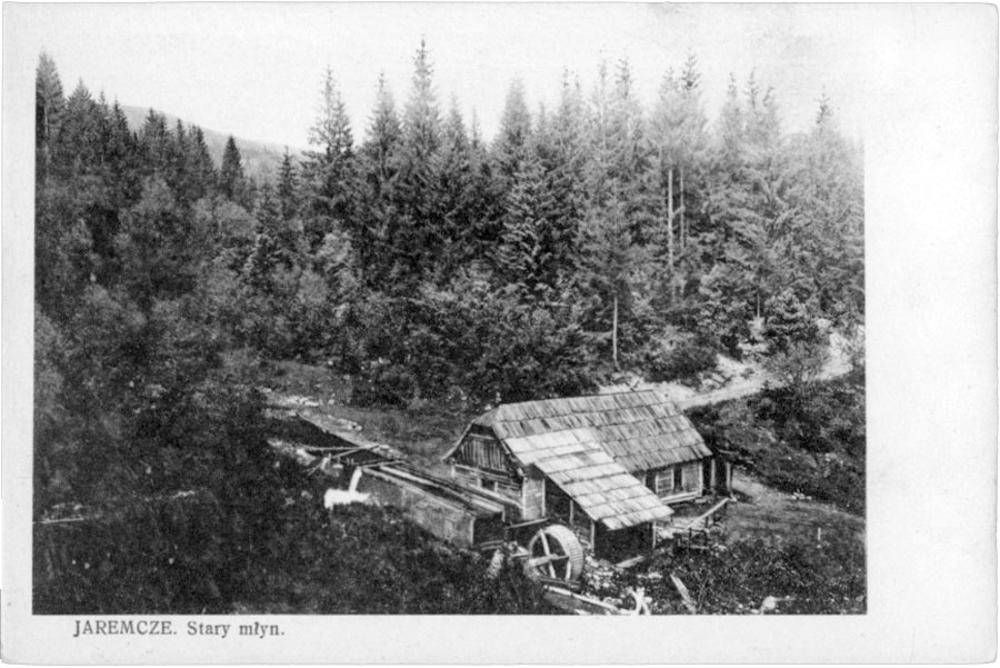 Yaremche. The old mill, 1936