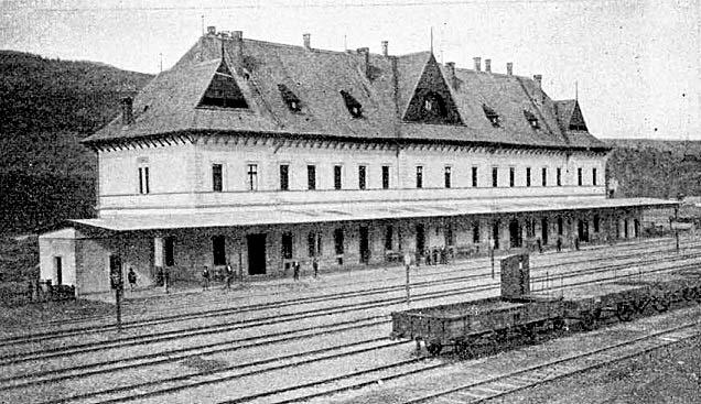 Yasinia. Railway station