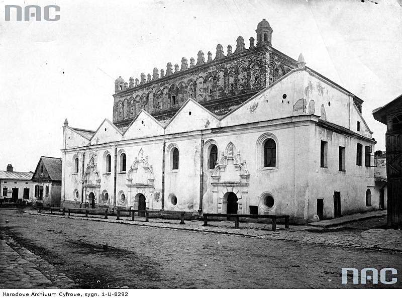 Zhovkva. Brick synagogue