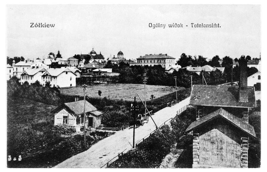 Zhovkva. Panorama of the city, 1914