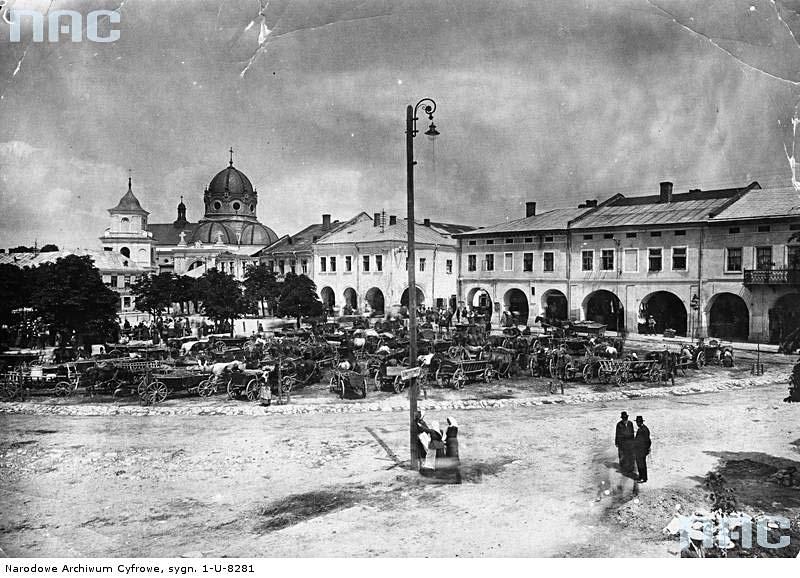 Zhovkva. Panorama of Market