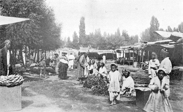 Fergana. Vegetable market