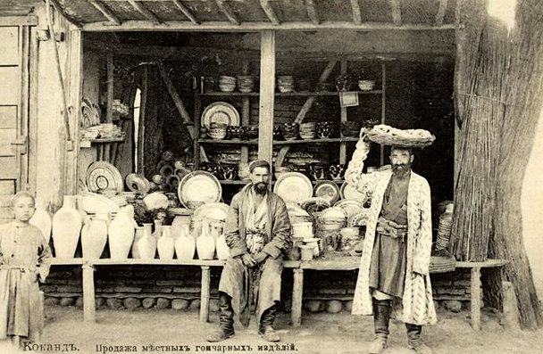 Kokand. Sale of pottery. The beginning of XX century