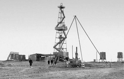 Nukus. Exploration of oil and gas on the Ustyurt Plateau