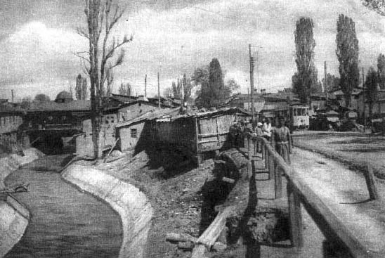 Tashkent. Channel Anchor. The border between Old and New Town