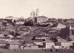 Бирск. Панорама города и Свято-Троицкого собора