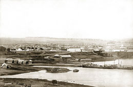Елабуга. Вид на Елабугу из Чертова городища, 1910