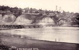 Уфа. Комбинированный понтонно-свайный Оренбургский мост через Белую, между 1920 и 1939