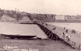 Уфа. Комбинированный понтонно-свайный Оренбургский мост через Белую, конец 20-х