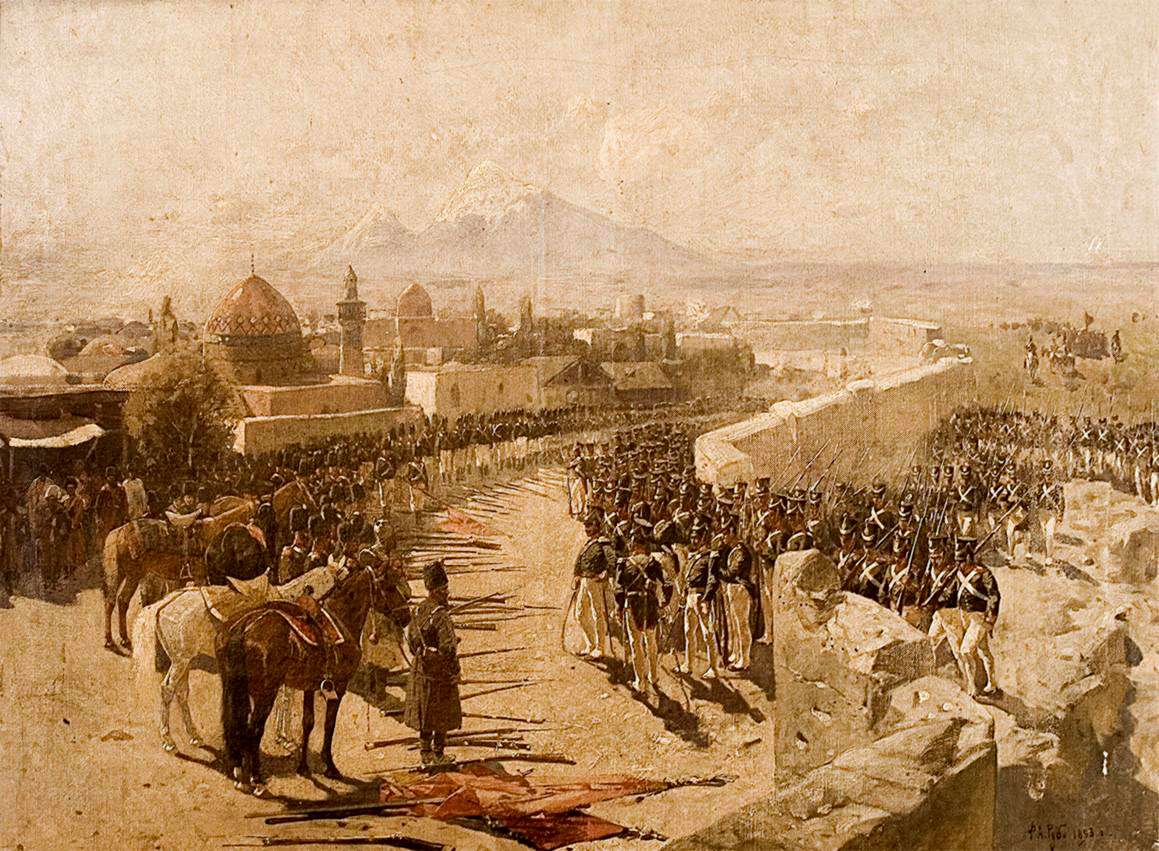 Yerevan. So the city looked like in 1827